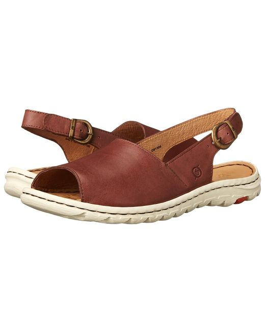 Born | Коричневый Ivana Full Grain Leather Womens Sandals
