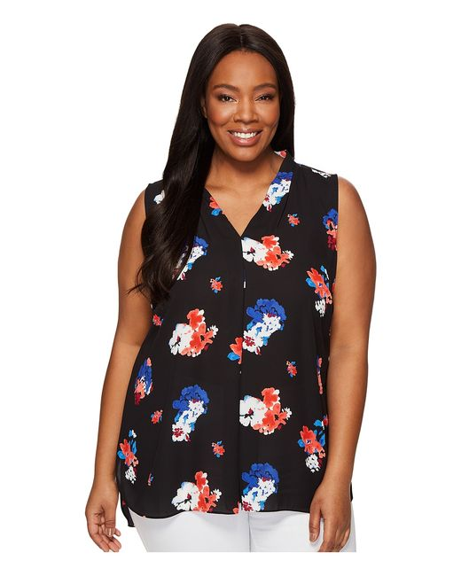 Vince Camuto Specialty Size | Чёрный Plus Size Sleeveless Travelling Bloom Invert