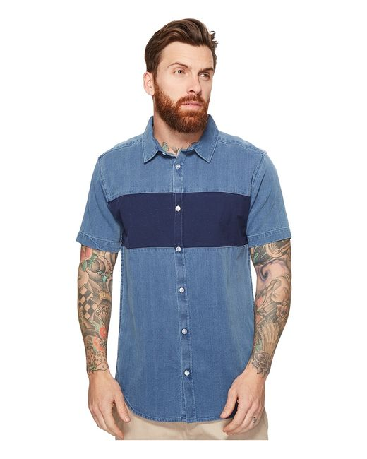 Rvca | Navy Thatll Do Mix Short Sleeve Woven Washed