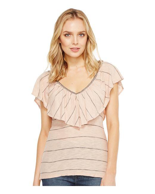 Splendid | Розовый Ruffle Tee Womens T Shirt