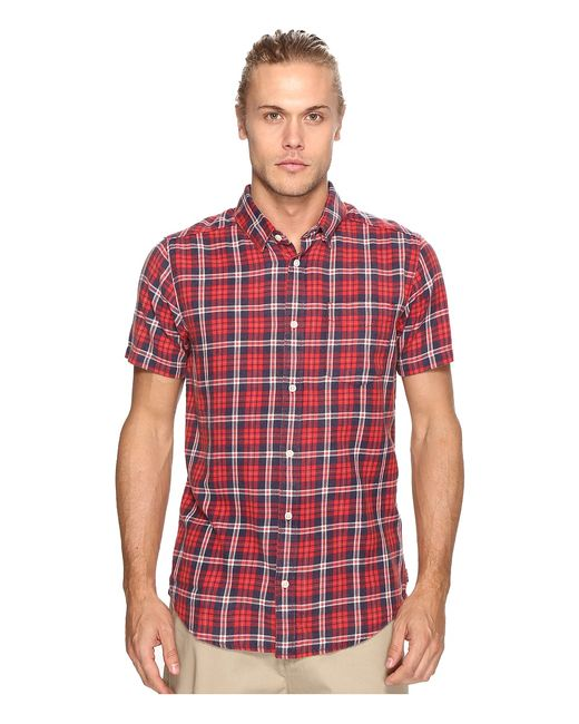 Rvca | Красный Sid Short Sleeve Woven Pompei Mens Clothing