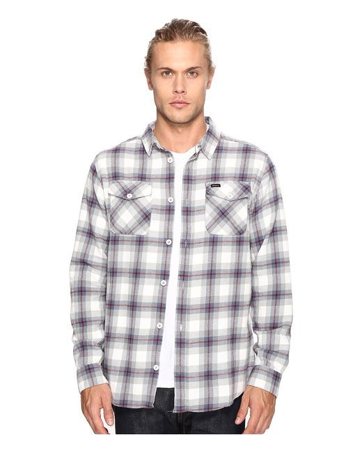 Rvca | Белый Thatll Work Flannel Long Sleeve Antique Mens