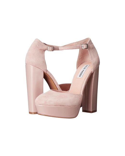 STEVE MADDEN | Розовый Darla Blush Suede High Heels