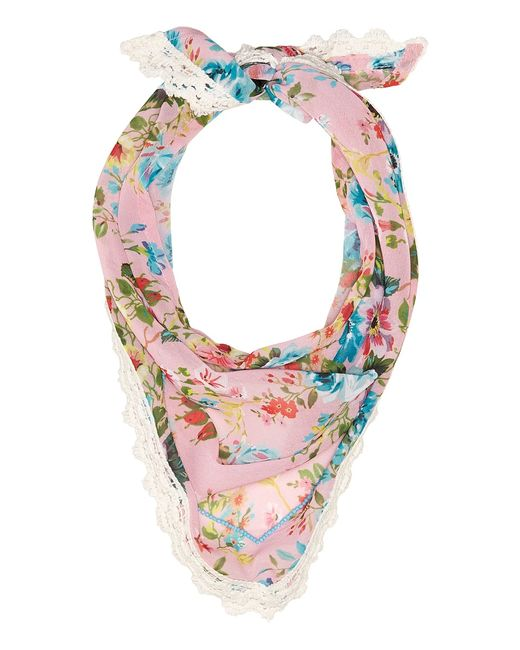 STEVE MADDEN   Розовый Dolce Flora Triangle Neckerchief Blush Scarves