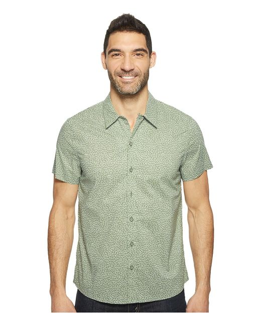 Kenneth Cole Sportswear | Белый Short Sleeve Abstract Camp Shirt Highline