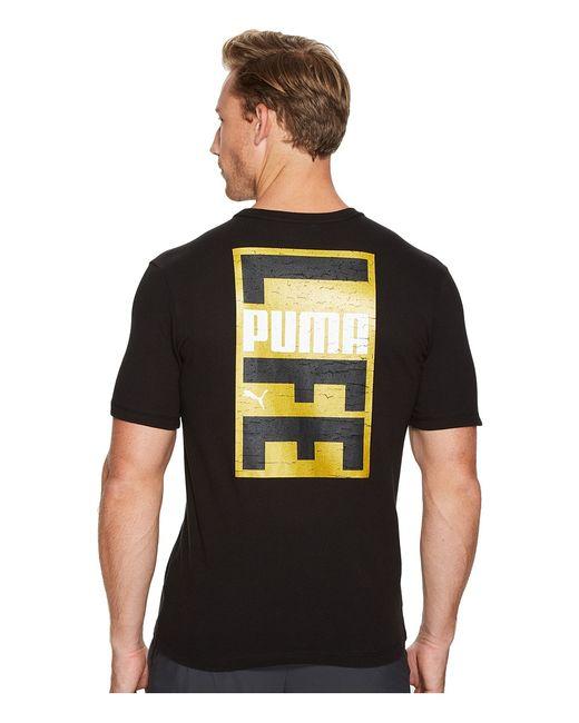 Puma | Чёрный Life Vertical Tee Mens T Shirt
