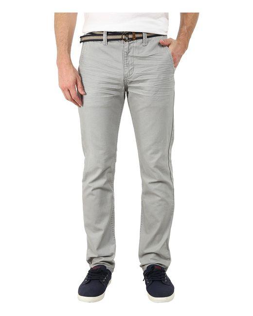 U.S. Polo Assn. | Белый U.S. Polo Assn. Slim Fit Canvas Pants