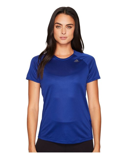 Adidas | Голубой D2m Loose Tee Mystery Ink F17 Womens