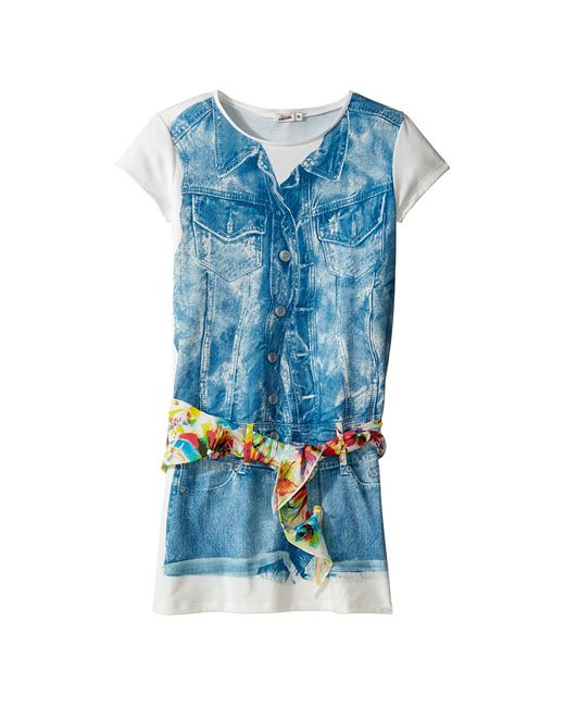 Junior Gaultier | Хаки Dress With Image Of Denim Romper And