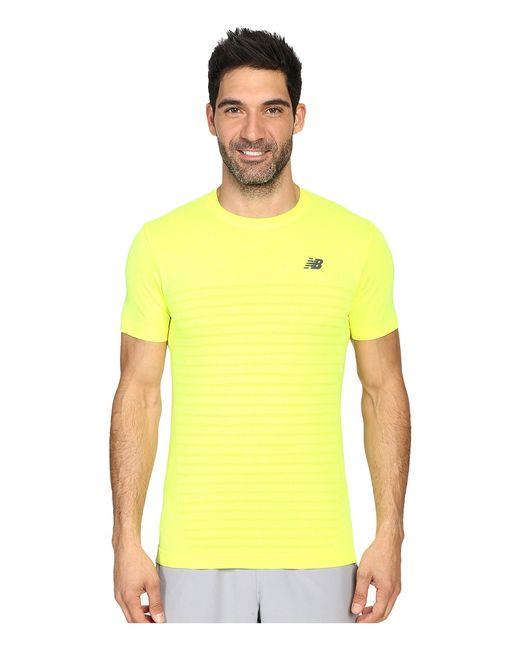 New Balance | Желтый M4m Seamless Short Sleeve Top Firefly Heather