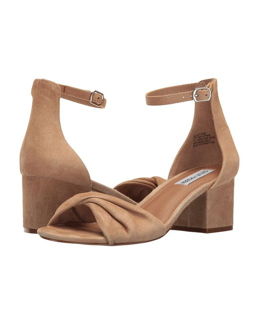 STEVE MADDEN | Tan Bllast Natural Suede Womens Dress Sandals