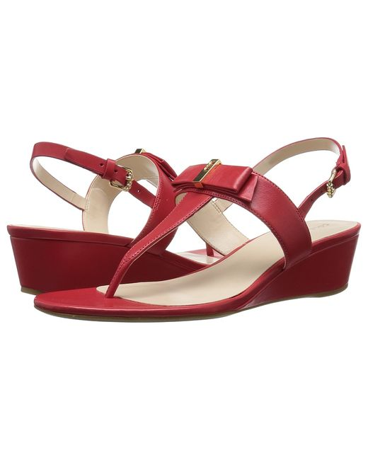 Cole Haan | Красный Elsie Hardware Sandal Ii Goji Berry Leather
