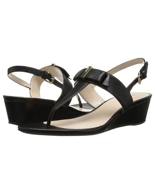 Cole Haan   Чёрный Elsie Hardware Sandal Ii Leather Womens Sandals