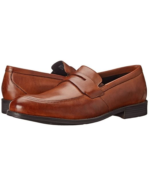 Stacy Adams | Tan Roswell Cognac Mens Lace Up Moc Toe