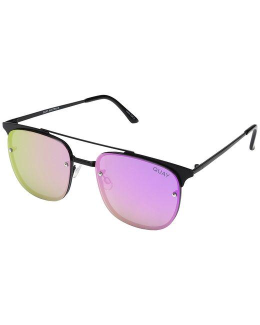 Quay Australia   Чёрный Private Eyes Fashion Sunglasses