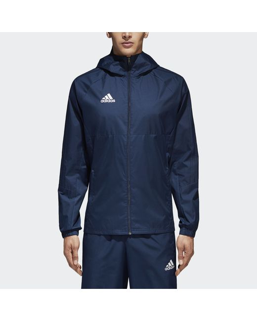 b5ca9f34 Мужская Белая Куртка Tiro17 Rain Performance Adidas bq2652290
