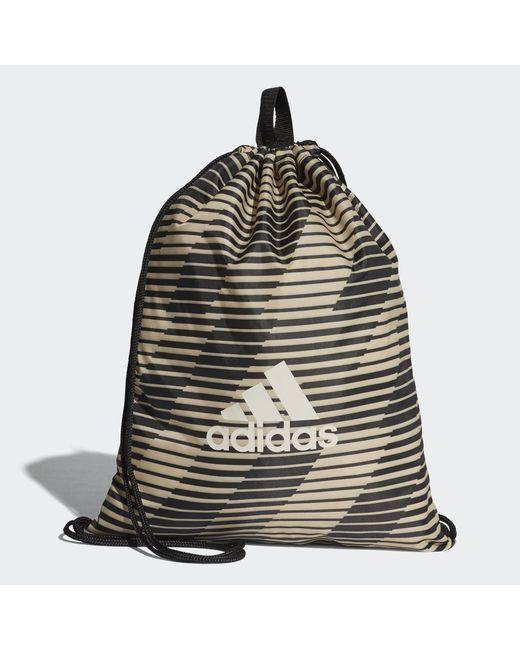 Мужская Чёрная Сумка-Мешок Football Street Performance Adidas cf3330500 08ef0599dc3