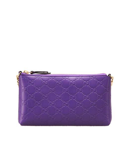 Gucci | Женский Фиолетовый Кожаный Бумажник