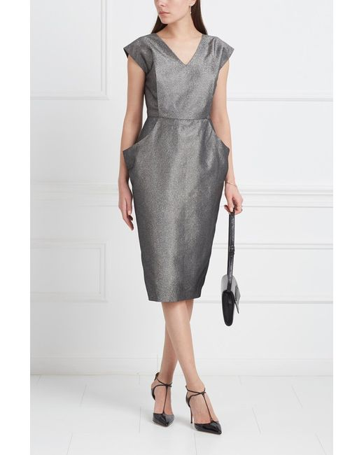 VIKTORIA IRBAIEVA | Женское Серое Однотонное Платье