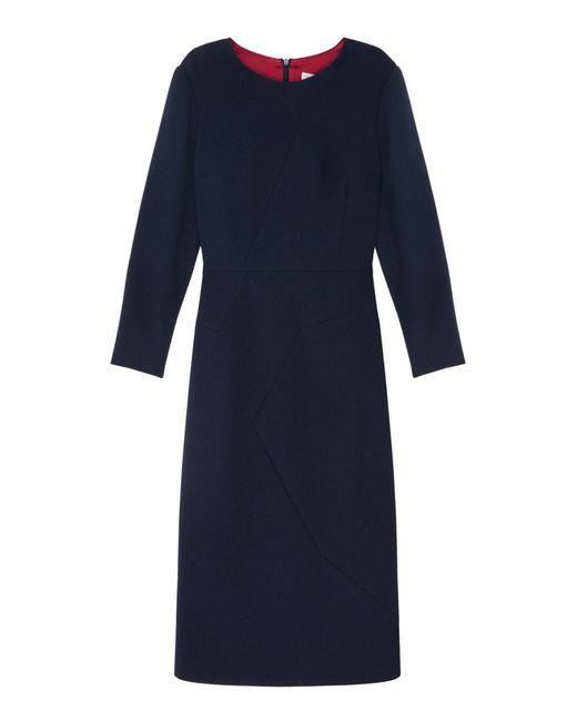 A La Russe   Женское Синее Шерстяное Платье