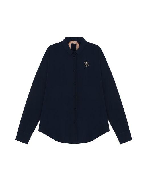 No21 | Синяя Однотонная Блузка