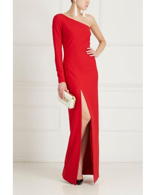 Elizabeth And James | Женское Красное Асимметричное Платье