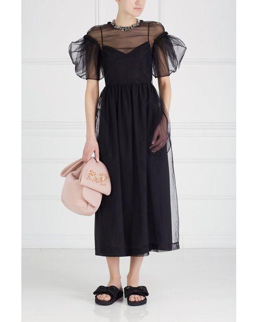 Simone Rocha | Женское Чёрное Полупрозрачное Платье