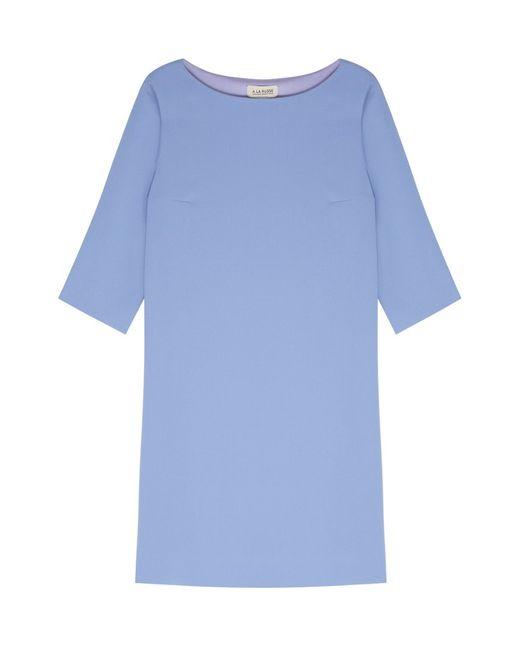 A La Russe | Женское Голубое Однотонное Платье