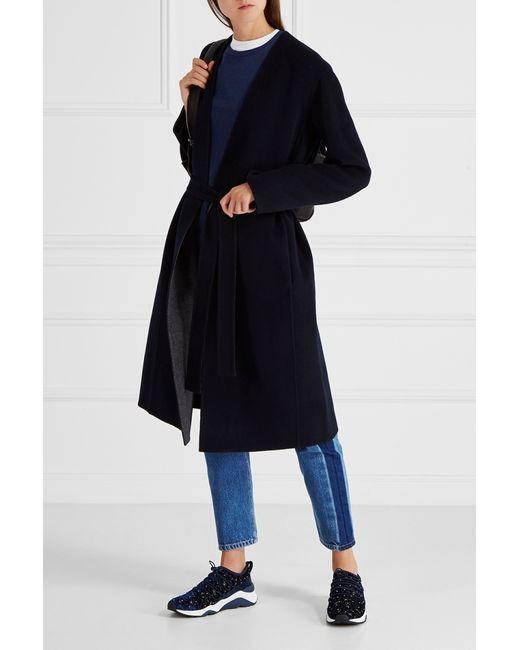 Vince | Женское Чёрное Шерстяное Пальто
