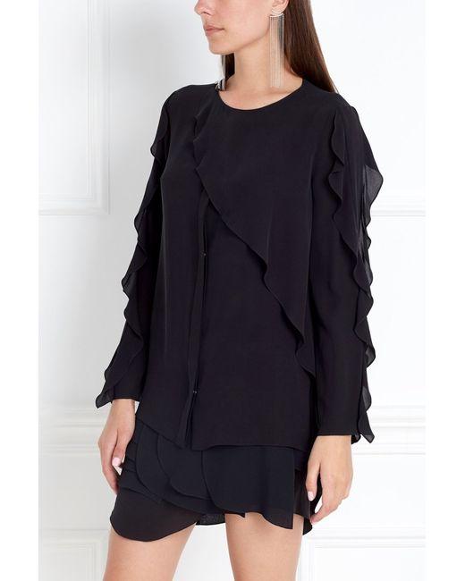 Chapurin | Женская Чёрная Шелковая Блузка