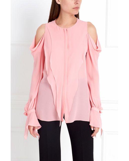 Chapurin | Женская Розовая Шелковая Блузка