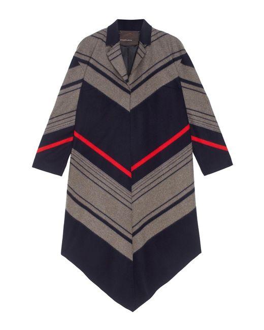 Chapurin   Женское Многоцветное Шерстяное Пальто