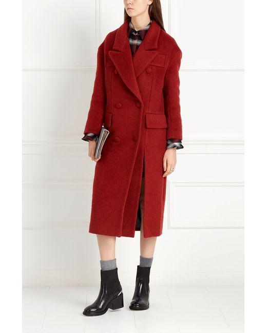 I Am  Studio | Женское Красное Двубортное Пальто