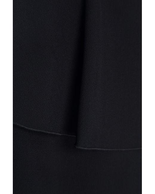Red Valentino | Женское Чёрное Платье С Воланами