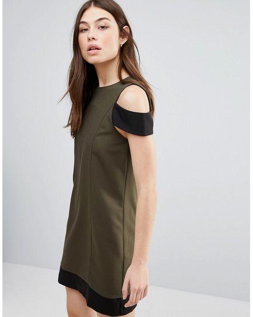 Hedonia | Женское Зелёное Цельнокройное Платье