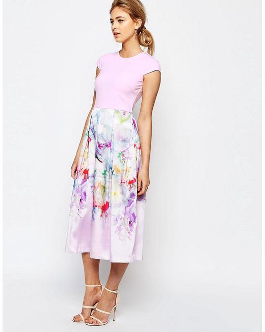 Ted Baker | Женское Розовое Платье Hanging Gardens