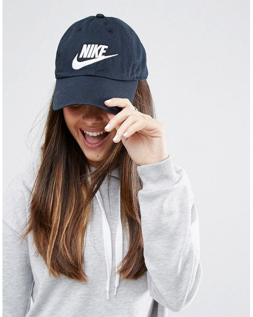 Nike | Чёрная Выбеленная Кепка Futura H86