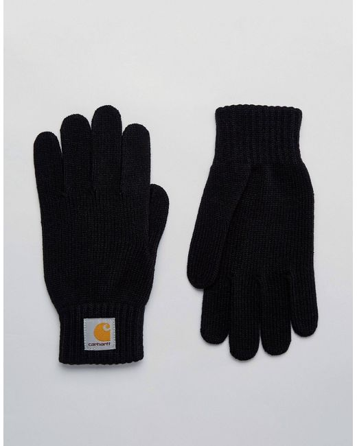 Carhartt WIP | Мужские Чёрные Перчатки