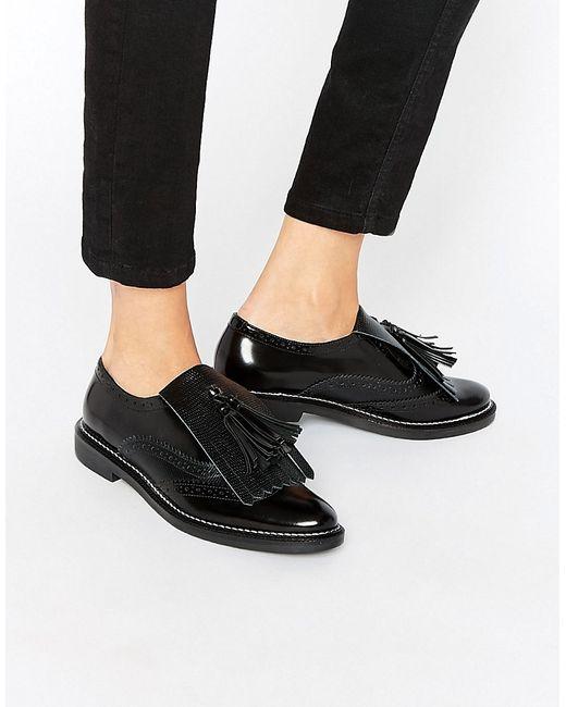 Asos | Женские Чёрные Кожаные Туфли На Плоской Подошве Mariella Premium