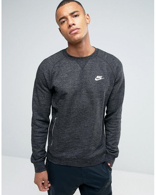 71b44f5f Мужские Чёрные Свитшот Legacy 805055-032 Nike 4938201