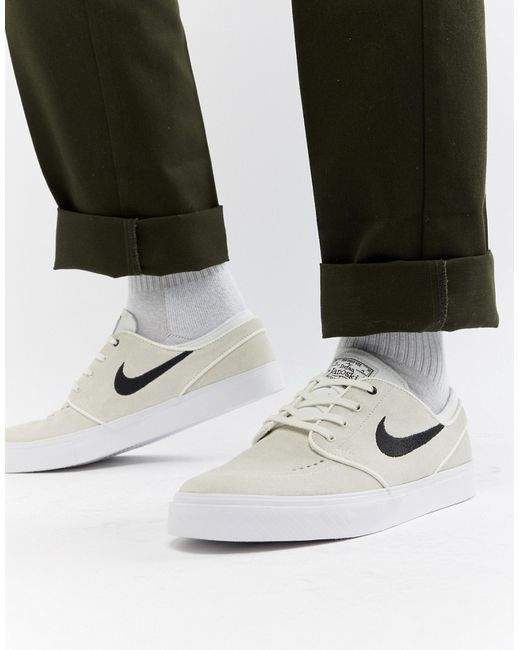 Nike SB - Мужские Зелёные Бежевые Кроссовки Zoom Stefan Janoski 333824-107 71ae402865ec6