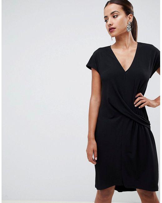 7a99aba4ec0 Женское Чёрное Платье С Заниженной Талией Design Asos 7539737
