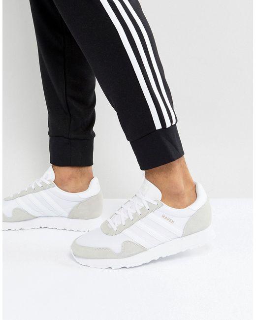 6d75f204 Мужские Белые Кроссовки Haven By9718 adidas Originals 6233258
