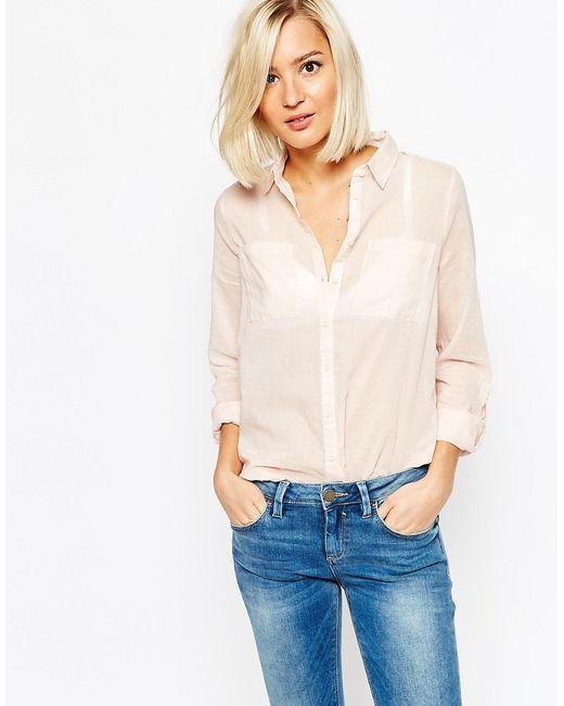 Vero Moda | Женская Льняная Рубашка