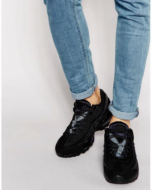 Nike | Мужские Чёрные Кроссовки Air Max 95 609048-092