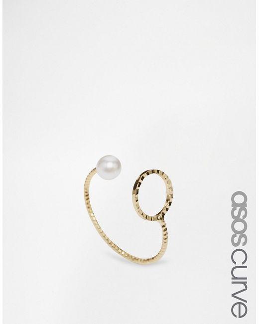 ASOS CURVE | Женское Незамкнутое Кольцо С Искусственным Жемчугом