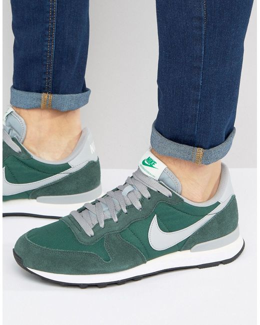 Nike | Мужские Зелёные Зеленые Кроссовки Internationalist 828041-300