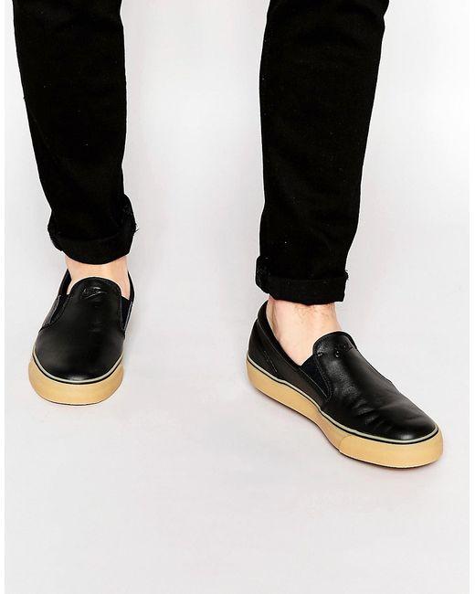 Nike   Чёрные Кожаные Кроссовки-Слипоны Toki