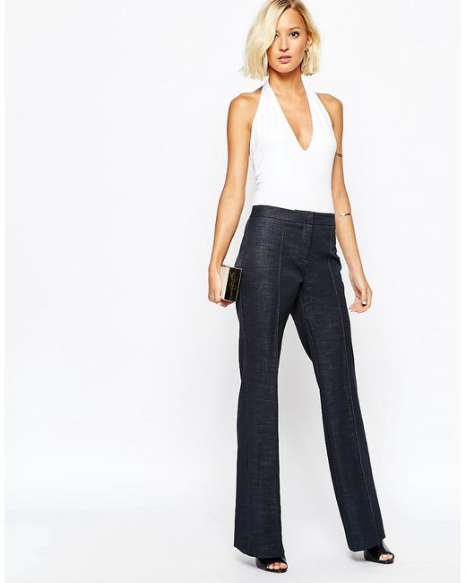 River Island | Деним River Island High Waisted Tailored Flare Trouser