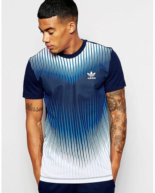adidas Originals   Синий Mezcla T-Shirt Ao2831